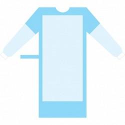 Bata Quirúrgica Reforzada SMS Dressy Gown Talla M