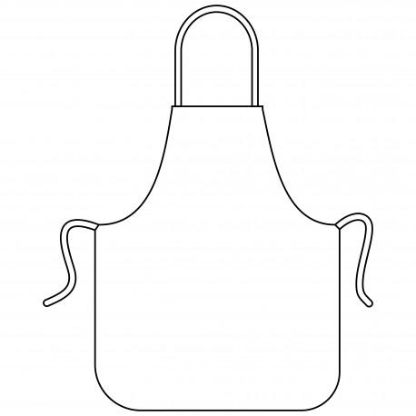 Delantal impermeable con peto (84 cm)